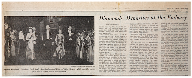 Diamonds, Dynasties at the Embassy