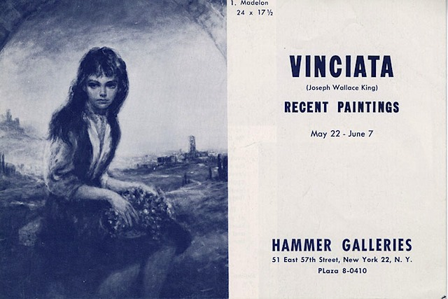 Vinciata Recent Paintings, Hammer Galleries, NY, 1960's